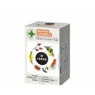 LEROS IMUNITA VITAMÍN C, ŠÍPKA & RAKYTNÍK bylinný čaj, nálevové vrecúška 20x2 g (40 g)