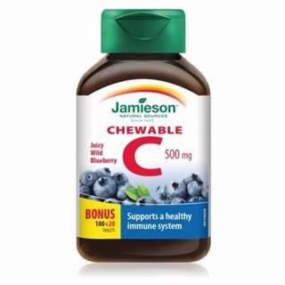 JAMIESON Vitamín C 500 mg s príchuťou čučoriedky 120 cmúľacích tabliet