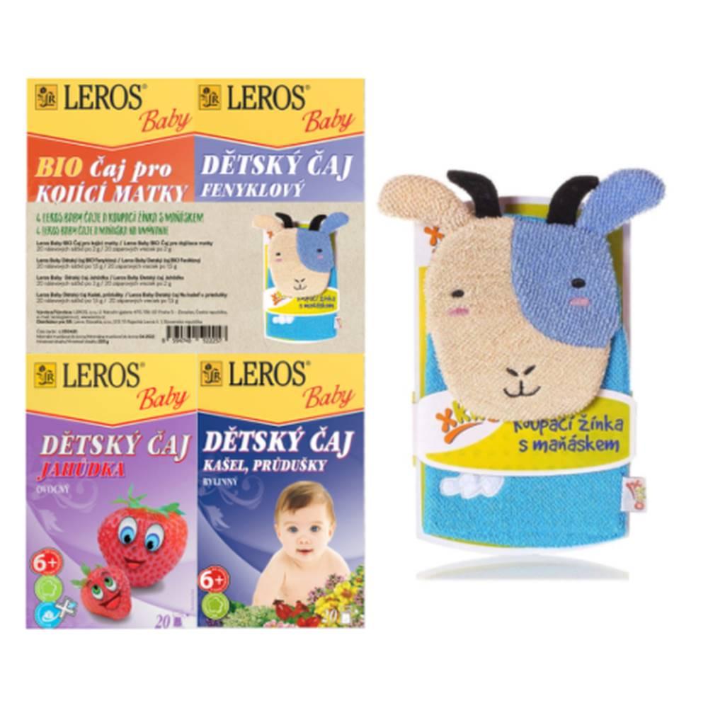 Leros LEROS Baby 4 čaje + DARČEK maňuška na umývanie