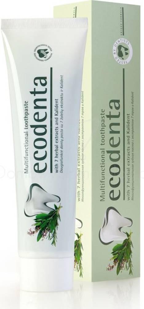 ECODENTA ECODENTA Ekologická Multifunkčná zubná pasta s extraktom zo 7 rastlín - 97% EKO