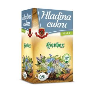 HERBEX Čaj hladina cukru 20 x 3g