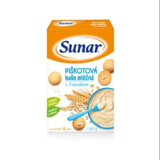 SUNAR Piškótová kaša mliešna s 8 cereáliami 225 g