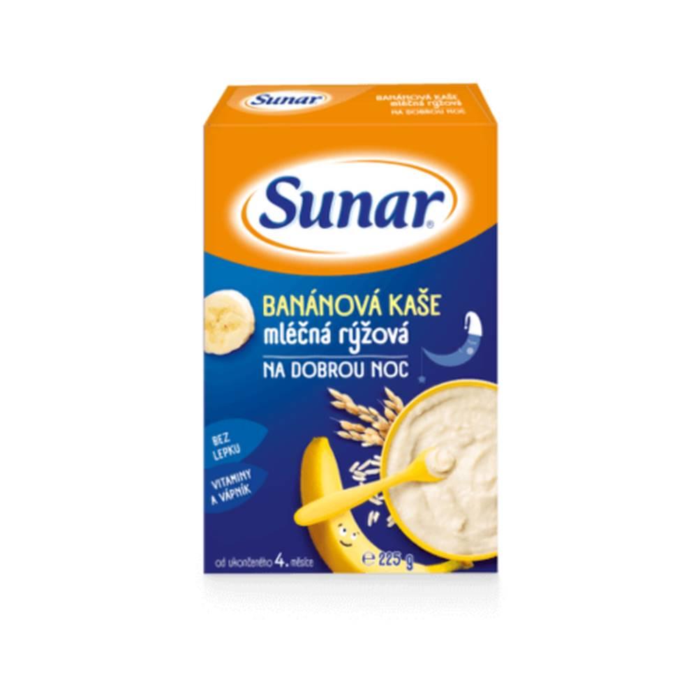 Sunar SUNAR Banánová kaša mliečna ryžová na dobrú noc 225 g