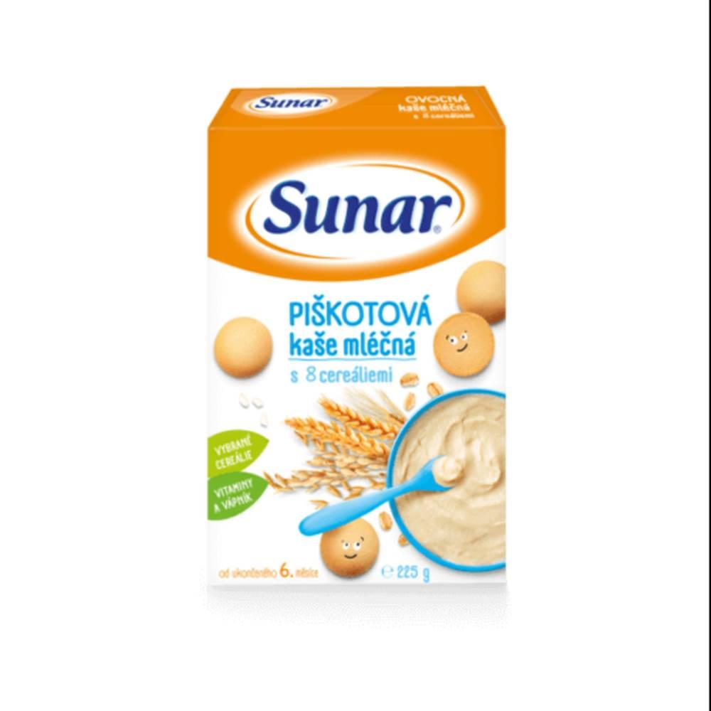 Sunar SUNAR Piškótová kaša mliešna s 8 cereáliami 225 g