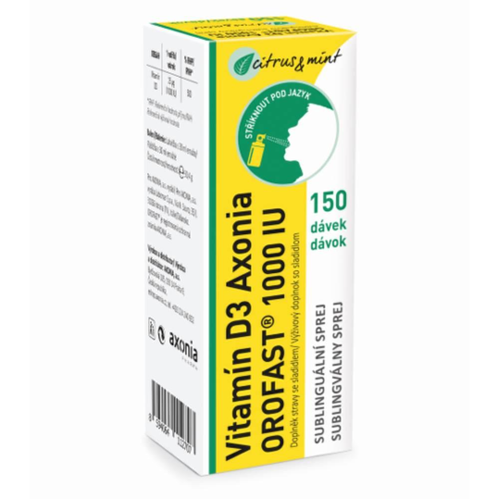 Orofast AXONIA Orofast vitamín D3 1000 IU 30 ml