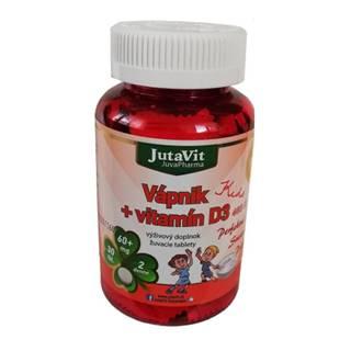 JUTAVIT Vápnik + vitamín D3 kids 30 žuvacích tabliet
