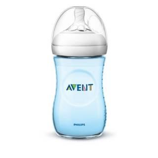 AVENT Fľaša natural PP 260 ml modrá, cumlík ultra soft 1 kus