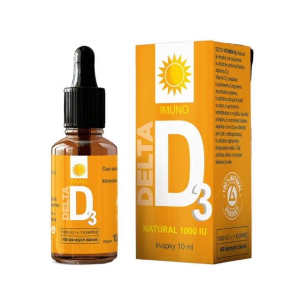 DELTA DELTA Vitamín D3 natural 1000 IU kvapky 10 ml