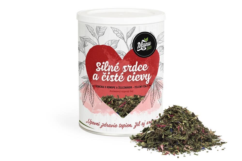 Manu tea SILNÉ SRDCE A ČISTÉ CIEVY - bylinný čaj 130g