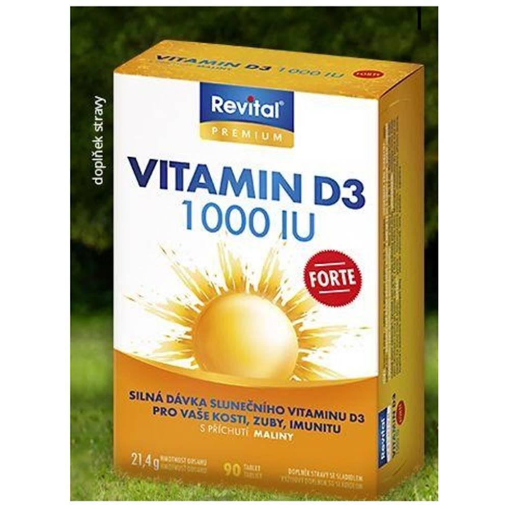Vitar Revital Vitamín D3 FORTE 1 000 IU tbl s príchuťou maliny 90 ks