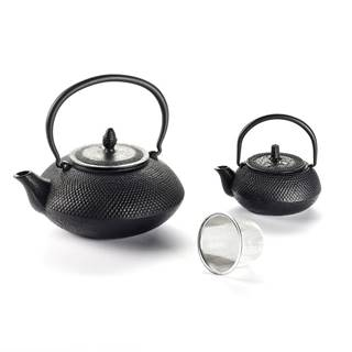 Liatinová čajová kanvica so sitkom