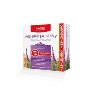 Cemio Alpské pastilky Šalvia a vitamín C 30+10 pastiliek