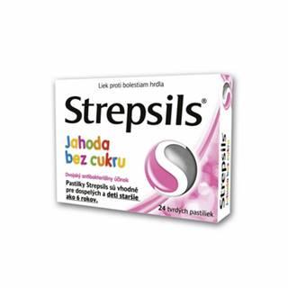STREPSILS Jahoda bez cukru 24 past