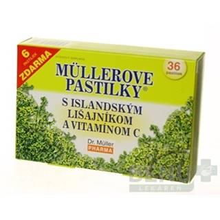 MÜLLEROVE PASTILKY s islandským lišajníkom a vitamínom C 36 kusov
