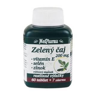MEDPHARMA Zelený čaj 200 mg + vitamín E + Se + Zn 60 + 7 tabliet ZADARMO