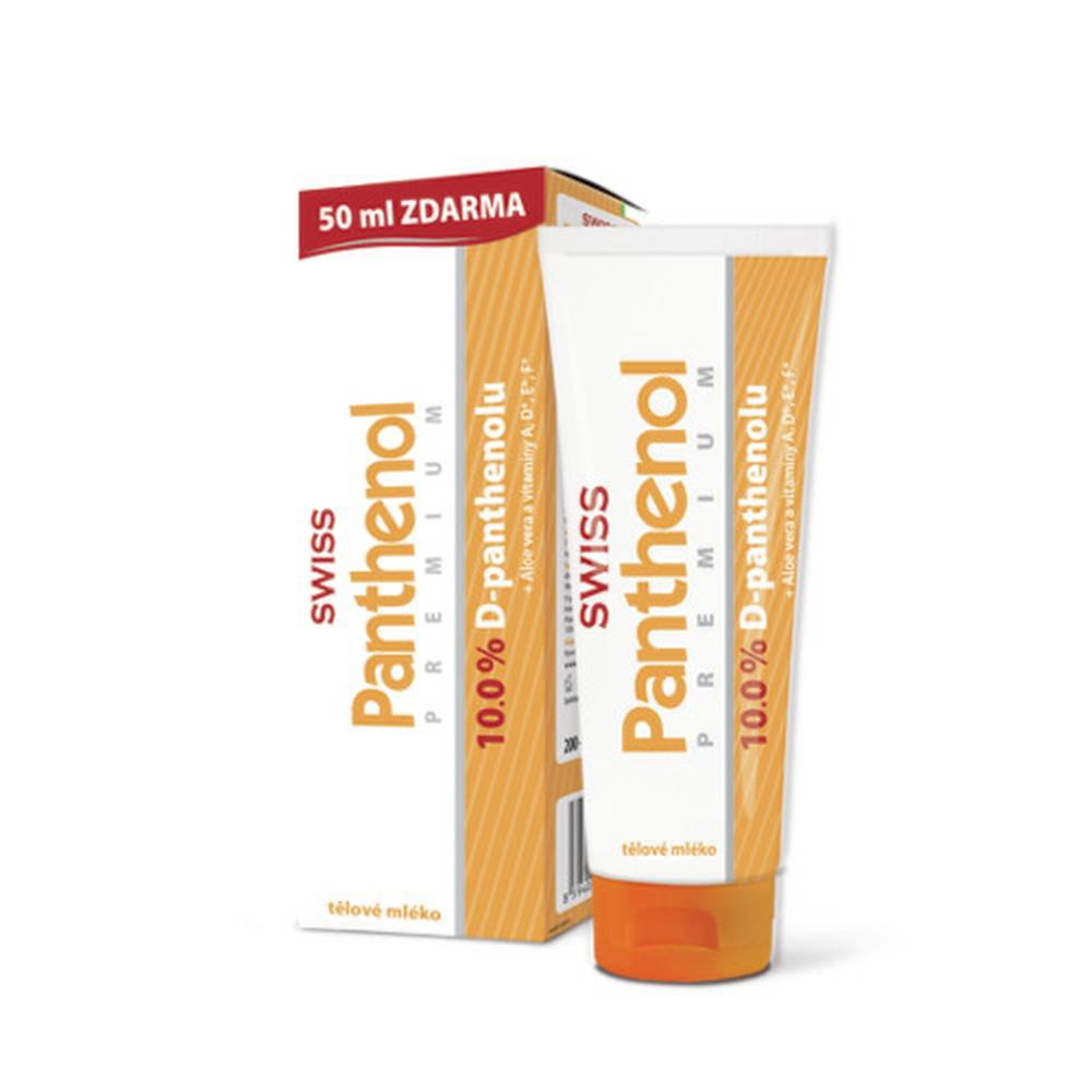 Simply You SWISS Panthenol premium 10% telové mlieko 200 + 50 ml