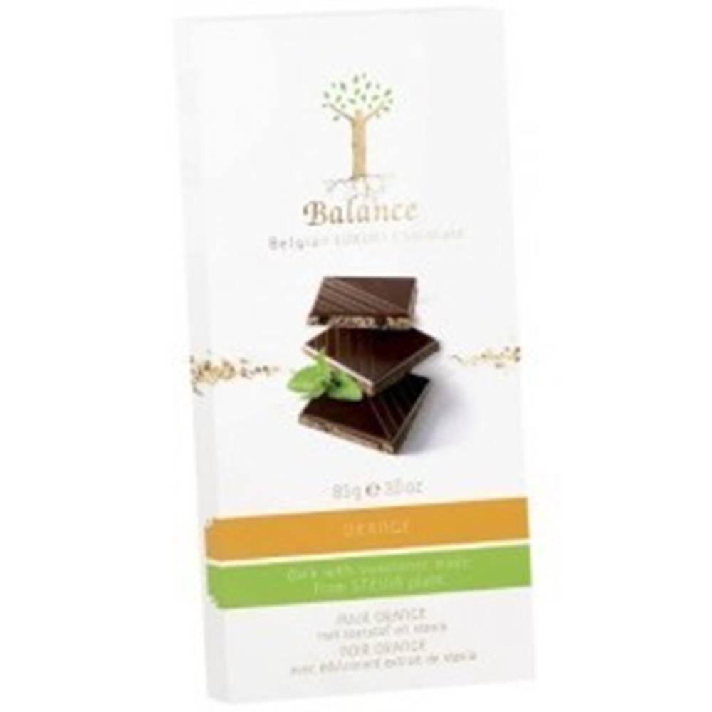BALANCE BALANCE Horká čokoláda so sladidlom zo stévie s príchuťou pomaranč 85 g