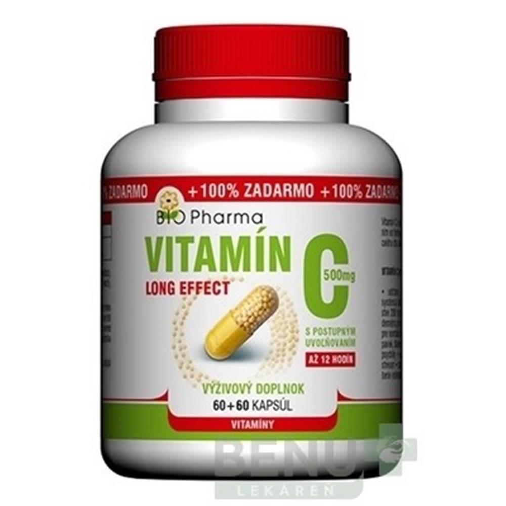 BIO Pharma BIO Pharma vitamín C 500 mg long effect 60 + 60 kapsúl ZADARMO
