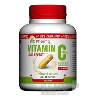 BIO Pharma Vitamín C 500mg Long Effect cps 60+60 cps 60+60