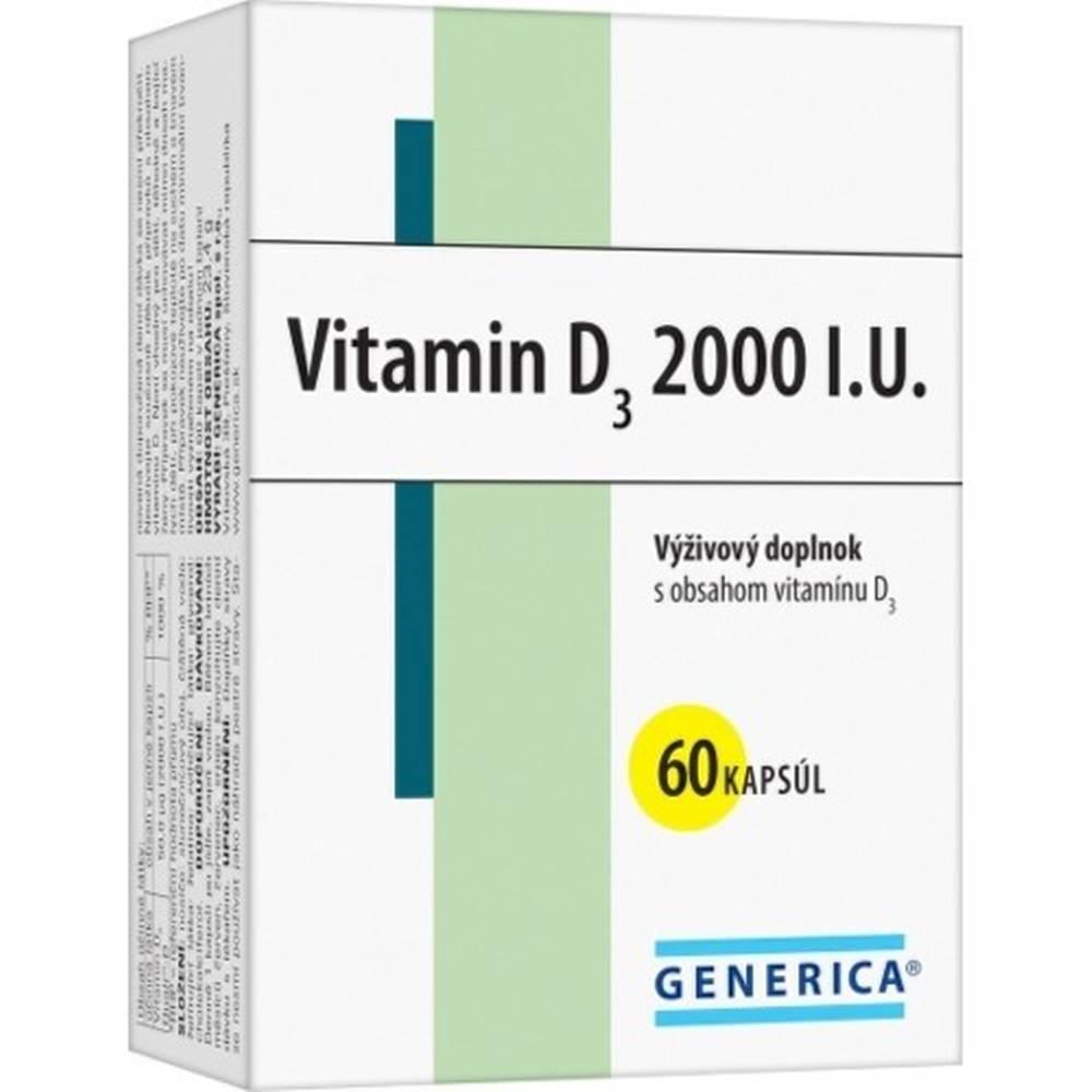 Generica GENERICA Vitamín D3 2000 I.U. 60 kapsúl