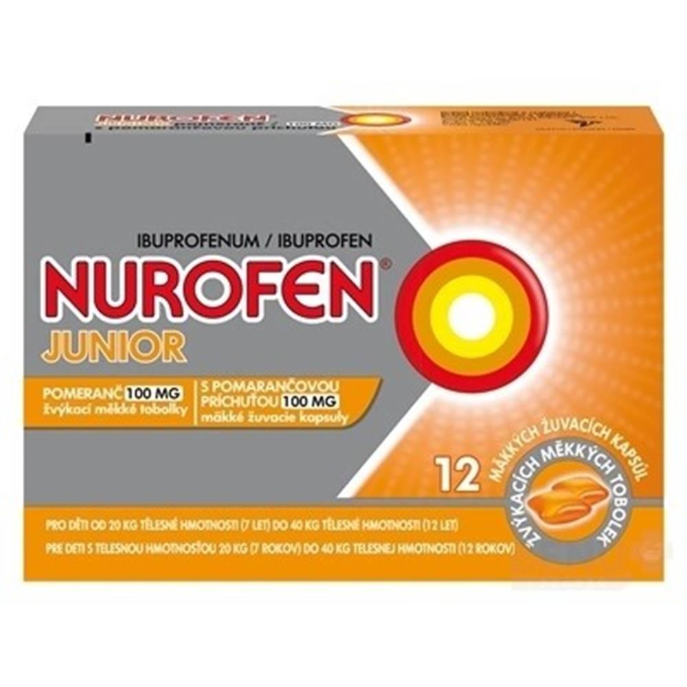 NUROFEN NUROFEN Junior s pomarančovou príchuťou 100 mg 12 kapsúl