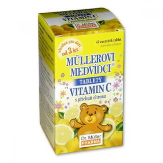 MÜLLEROVE MEDVEDÍKY Vitamín C citrón 45 tabliet