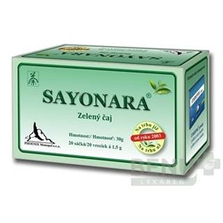 SAYONARA zelený čaj 20x1,5g