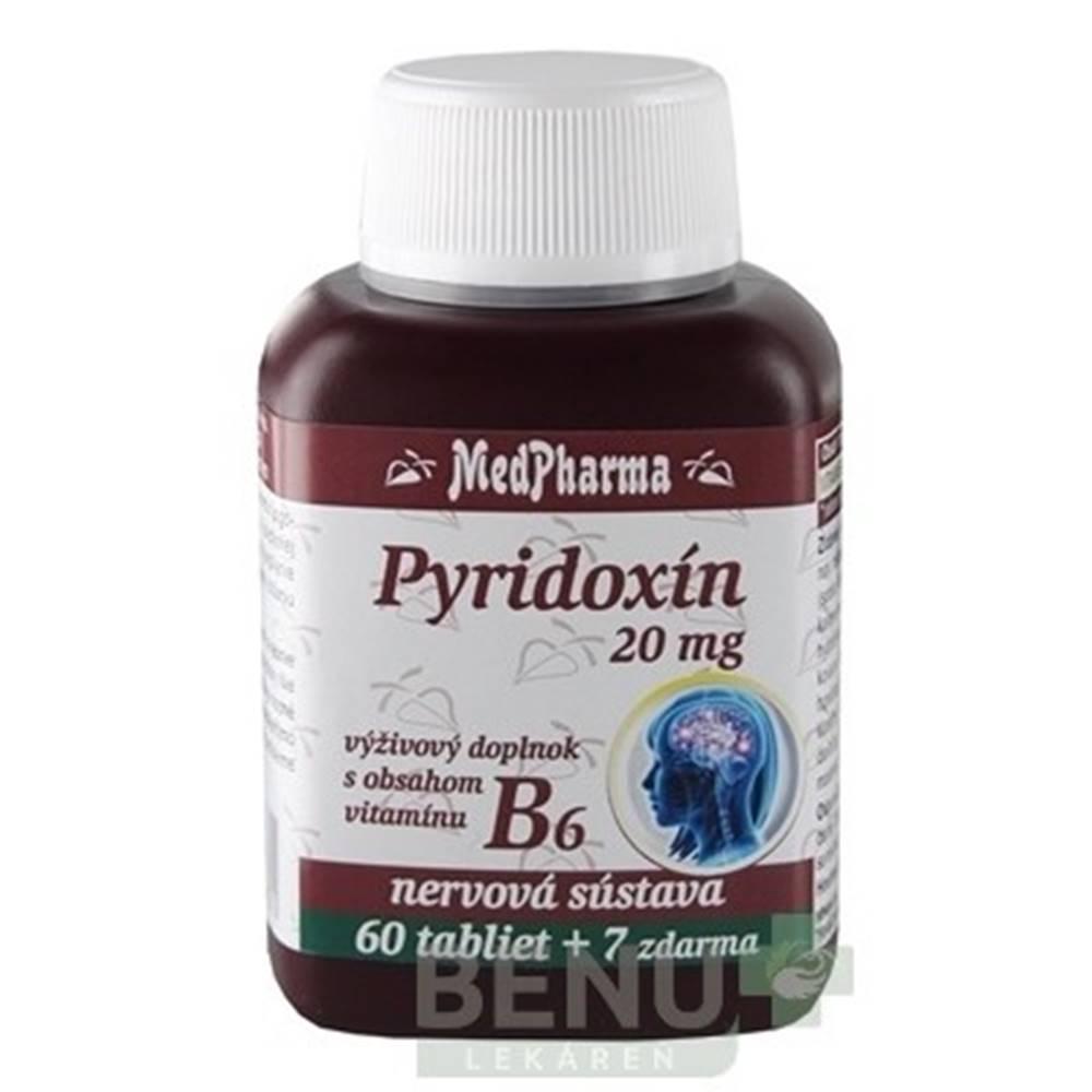 Medpharma MEDPHARMA Pyridoxín 20 mg + vitamín B6 60 + 7  tabliet ZADARMO