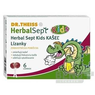 Dr.Theiss HerbalSept Kids KAŠEĽ 6ks