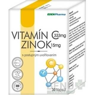 EDENPHARMA Vitamín C + zinok 30 kapsúl