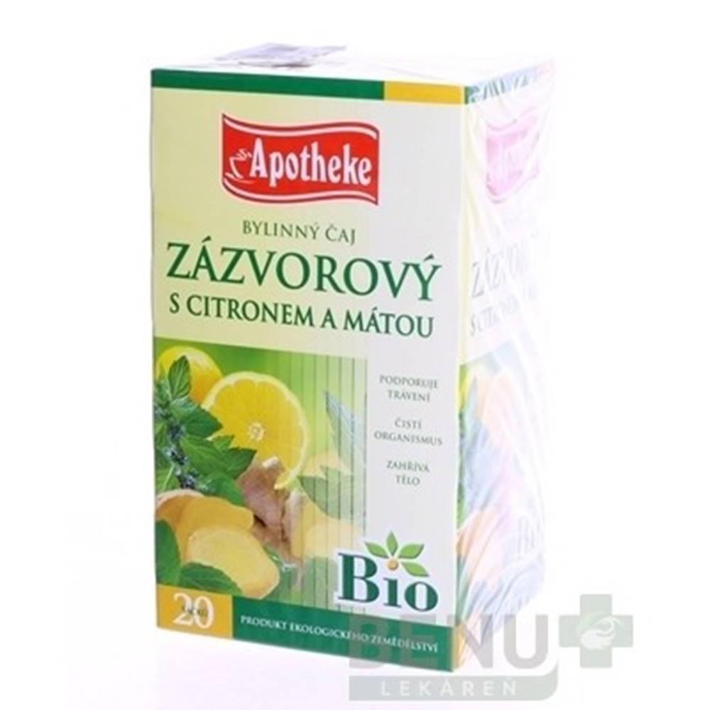 Apotheke APOTHEKE BIO Selection zázvor, čaj s citrónom a mätou 20 x 1,5 g