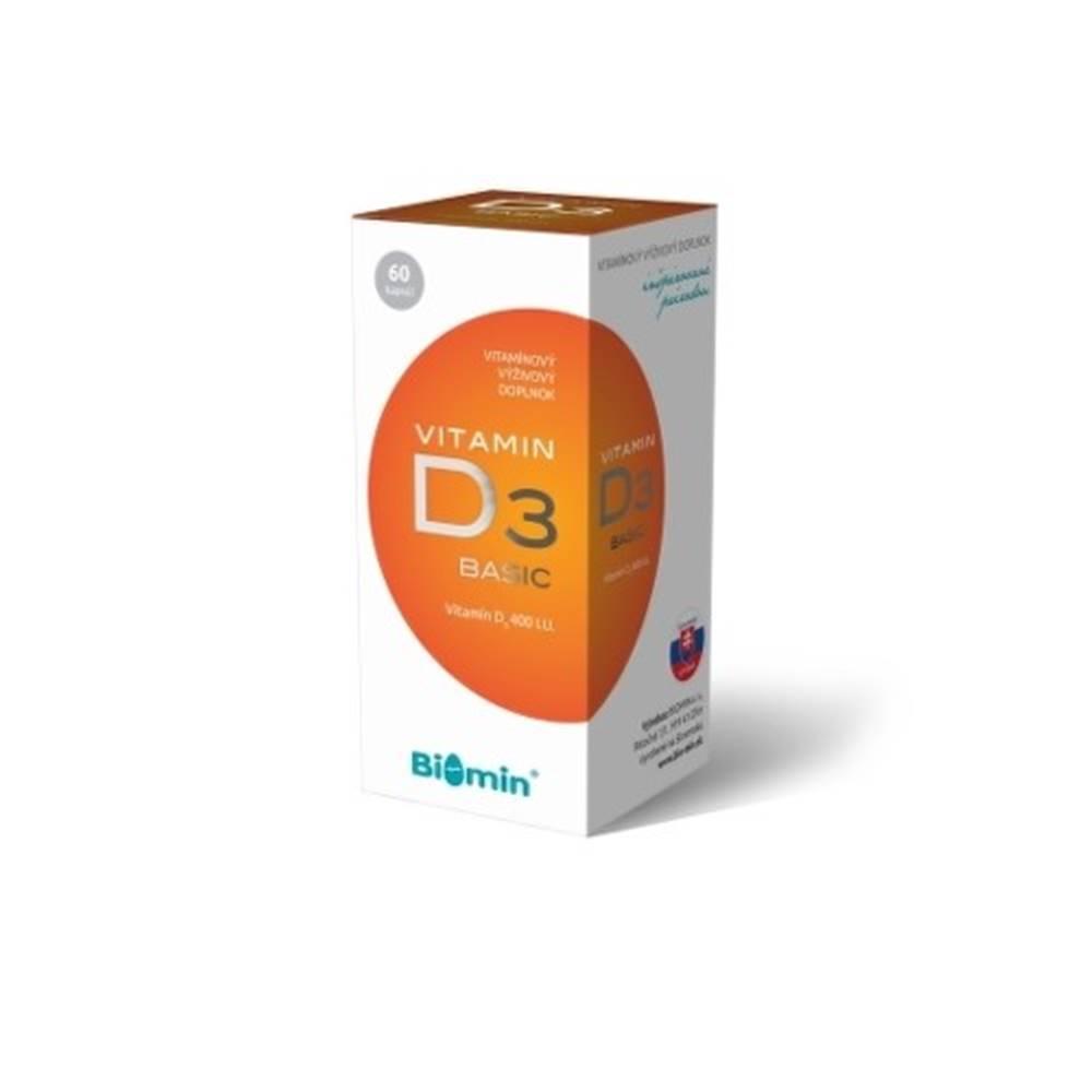Biomin BIOMIN Vitamín D3 400 I.U. 60 kapsúl