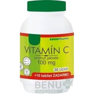 EDENPHARMA Vitamín C 100 mg príchuť jahoda 30 + 10 tabliet ZADARMO