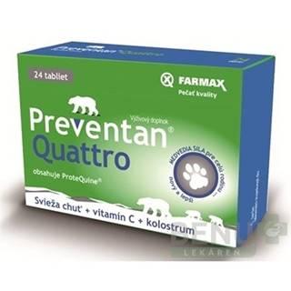 FARMAX Preventan quattro + vitamín C 24 tabliet