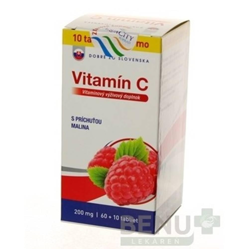 Dobré z SK Dobré z SK Vitamín C 200 mg príchuť MALINA tbl 60+10