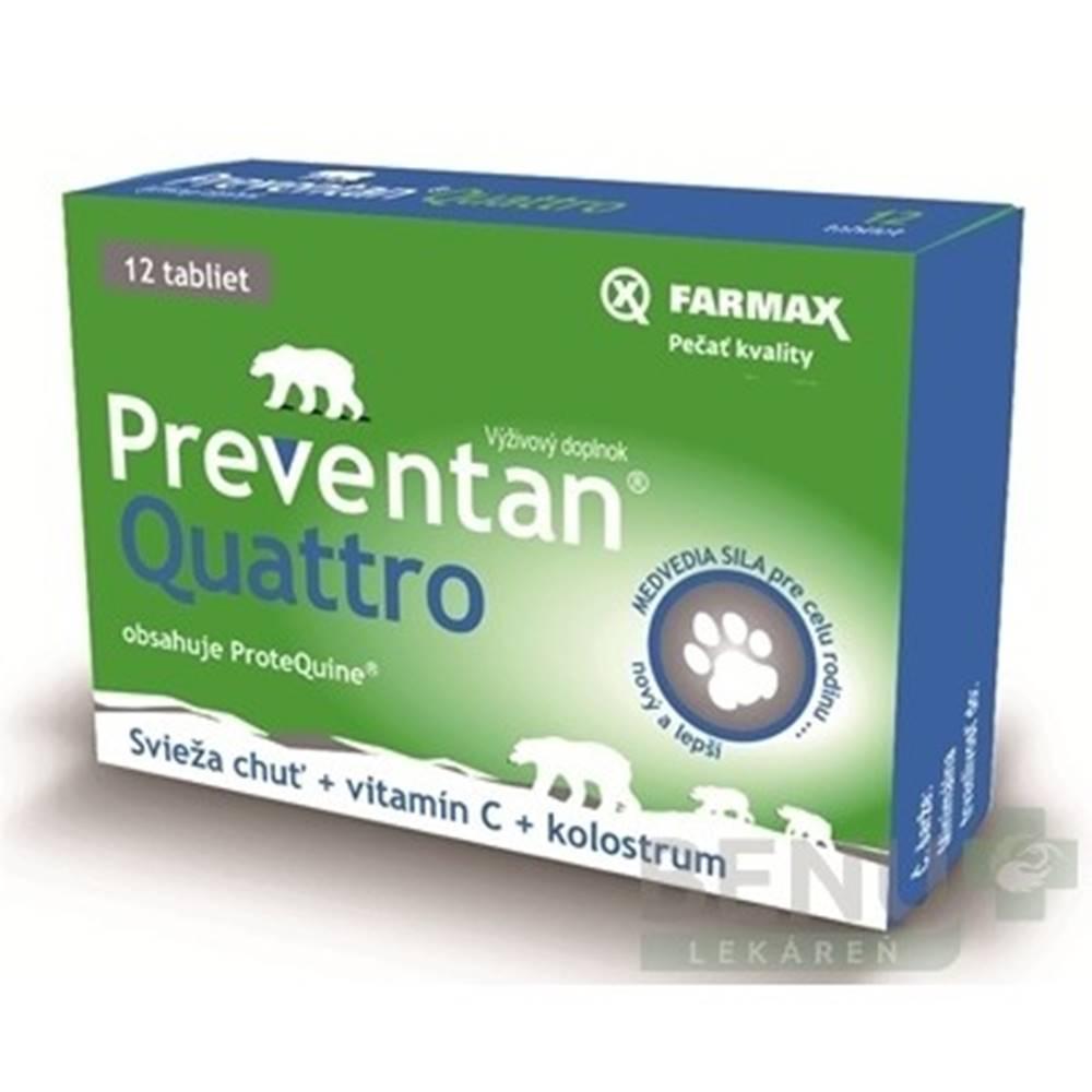 Svus pharma FARMAX Preventan quattro + vitamín C 12 tabliet