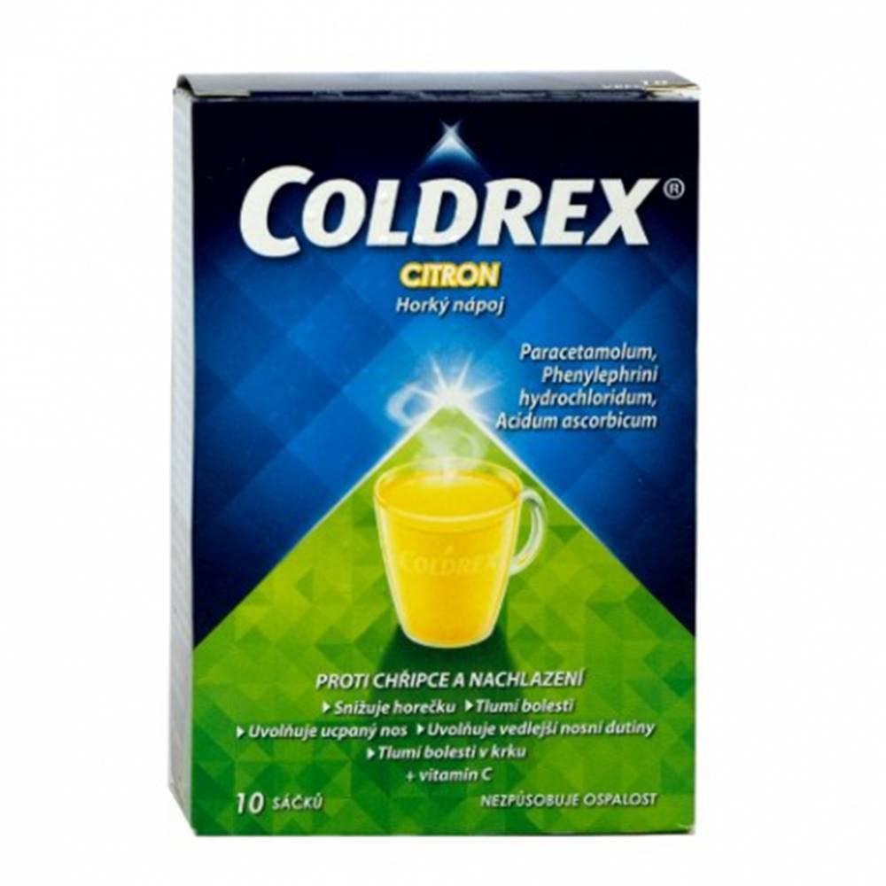 OMEGA PHARMA a.s. Coldrex Horúci nápoj citrón 10 vrecúšok