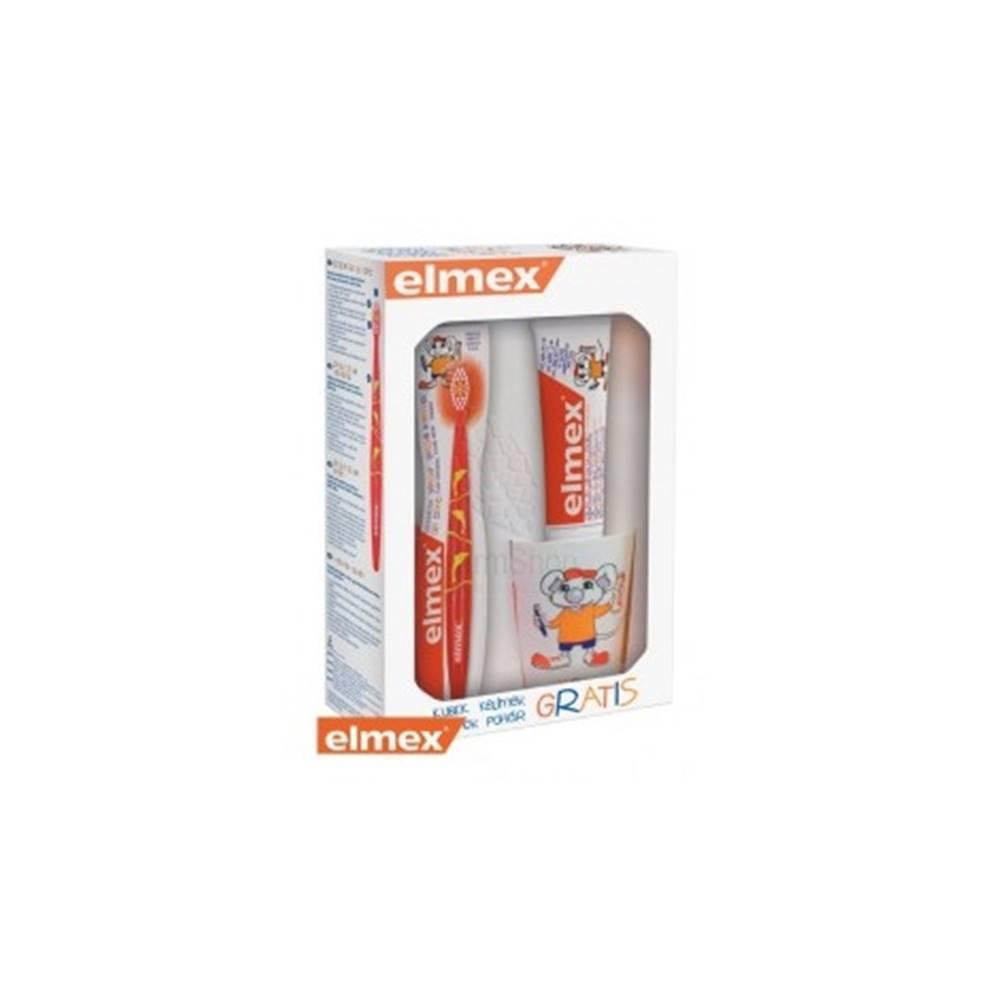Gaba Elmex balíček pre deti (zubná pasta + kefka + pohárik) 1ks