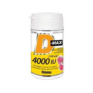 VITABALANS D-max 4000 IU (100 µg) 90 žuvacích tabliet